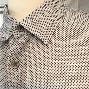 John Varvatos Size L Shirt Stars Button Up Shirt